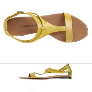 COSTUME NATIONAL Yellow Sandals
